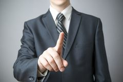 Businessman gesture with his hands Stock Images