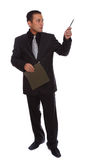 Businessman gesturing Stock Image