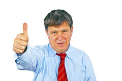 Businessman gesturing with hand Stock Photography