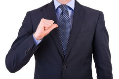 Businessman gesturing with hand. Stock Photos