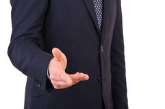 Businessman gesturing with hand. Stock Images