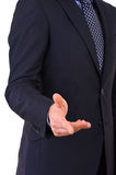 Businessman gesturing with hand. Royalty Free Stock Photos