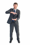 Businessman gesturing with his hands Stock Photos