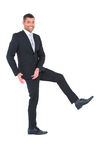 Businessman gesturing with his hands Stock Images