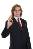 Businessman gesturing okay Royalty Free Stock Photo