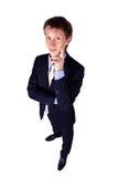 Businessman gesturing in studio Stock Photo