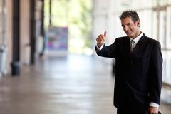 Businessman Gesturing Thumbs Up Royalty Free Stock Images