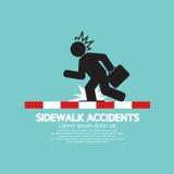 Businessman Get Accidents On Sidewalk Black Symbol Royalty Free Stock Photo