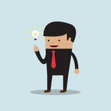 Businessman get the good idea Royalty Free Stock Images