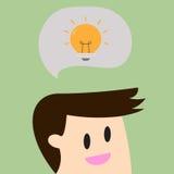 Businessman get an idea.Business concept Stock Image