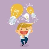Businessman get the idea concept Stock Images
