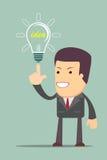 Businessman get idea Stock Image