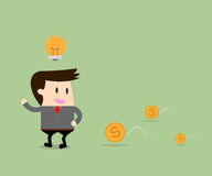 Businessman get the idea with Money Royalty Free Stock Photography