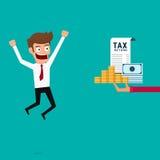 Businessman get money return. Tax return concept. Stock Image