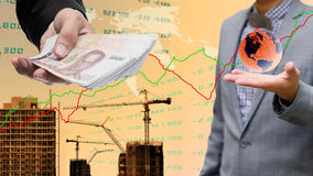 Businessman get profit from property Stock Photo