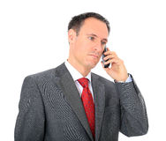 Businessman gets bad news Stock Photography