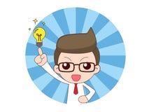 Businessman gets idea Royalty Free Stock Image