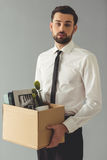Businessman getting fired Royalty Free Stock Photo