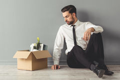 Businessman getting fired Stock Photos