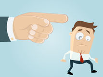 Businessman is getting fired. Illustration of a businessman who is getting fired Stock Photos