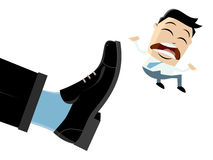 Businessman is getting fired. Illustration of a businessman who is getting fired Stock Photography
