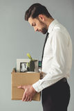 Businessman getting fired Stock Photo