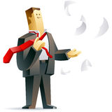 Businessman getting freedom. Vector illustration of a free businessman Royalty Free Stock Photo