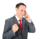 Businessman getting good news Stock Photos