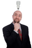 Businessman getting an idea Royalty Free Stock Images