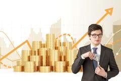 Businessman getting money Stock Photography