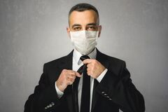 Businessman Getting Ready for Coronavirus Threat for His Business