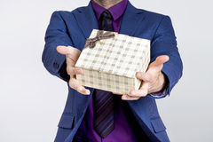 Businessman gift Stock Image