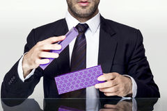 Businessman gift Stock Photography