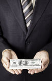 Businessman give the bribe Royalty Free Stock Photo