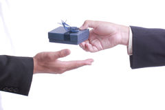 Businessman give gift for good relationship Royalty Free Stock Photos