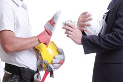 Businessman give money for corruption something Royalty Free Stock Photos
