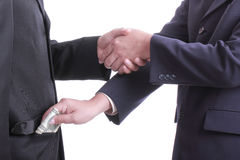 Businessman give money for corruption something Royalty Free Stock Photo