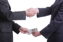 Businessman give money undertable for corruption concept Royalty Free Stock Photo