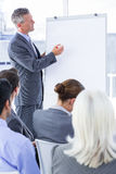 Businessman give a presentation Royalty Free Stock Image