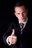 Businessman giving consent, with thumb up Stock Photography