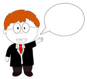 Businessman giving explanation Stock Photos