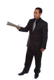 Businessman giving file Stock Photos