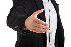 Businessman giving hand Royalty Free Stock Photos