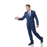Businessman giving a handshake Stock Photos