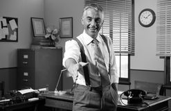 Businessman giving handshake Royalty Free Stock Photography