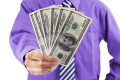 Businessman giving money 1 Royalty Free Stock Photos