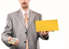 Businessman giving money Stock Photos