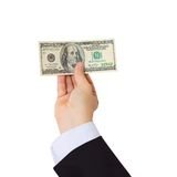 Businessman Giving Money Cash Dollars In Hands Stock Photos