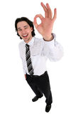 Businessman giving OK gesture Stock Image
