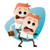 Businessman is giving a piggyback ride Royalty Free Stock Photo